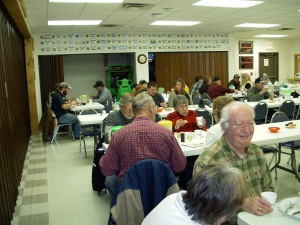 A pretty good turn out for the SCF VFW monthly fish fry